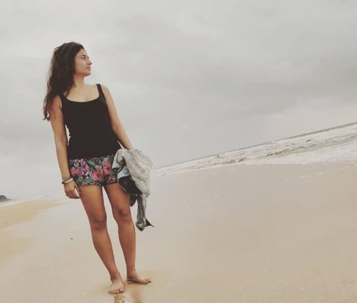Poonam Bajwa At Beach