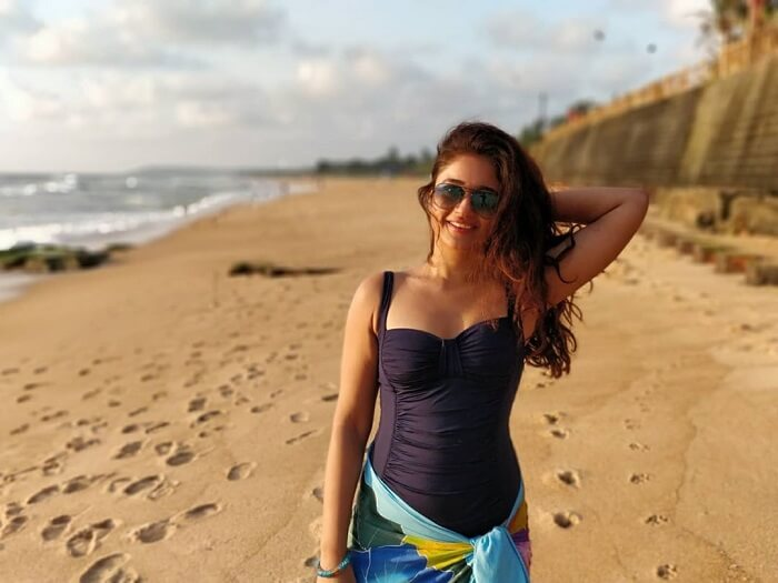 Poonam Bajwa At Beach