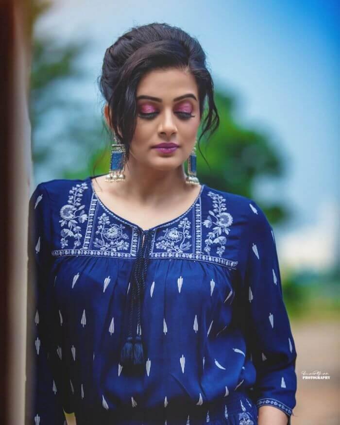 Priyamani New Photoshoot Pics In Blue Dress