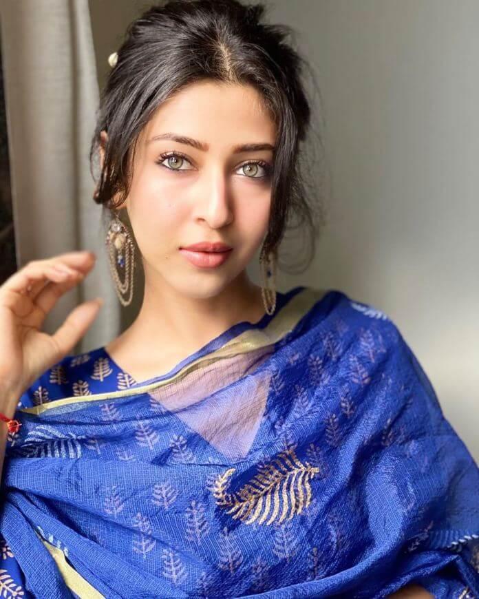 Sonarika Bhadoria In Blue Churidar