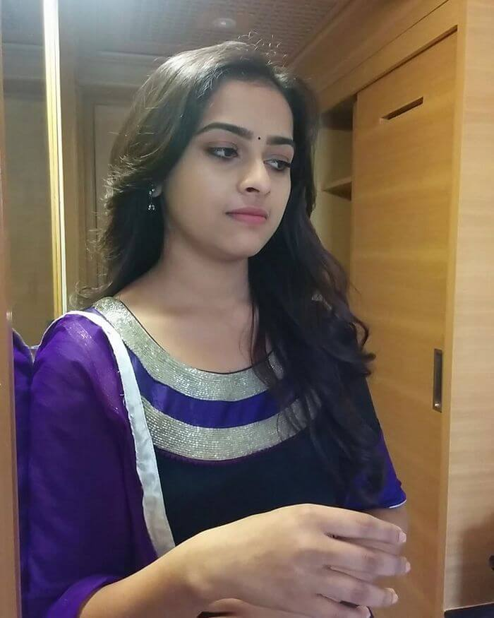 Sri Divya Cute Photos In Blue Churidar