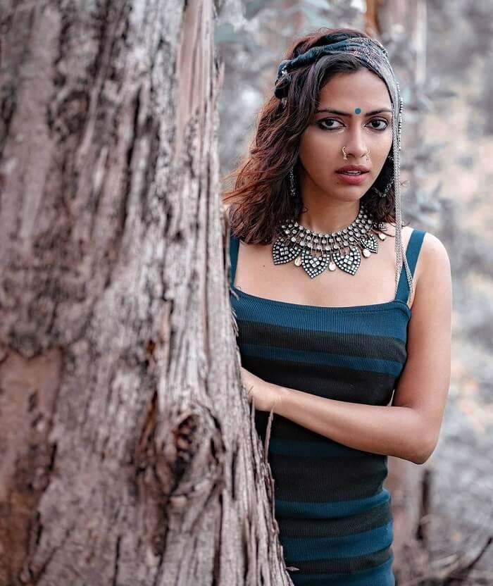 Amala Paul Photoshoot Stills In Vintage Theme