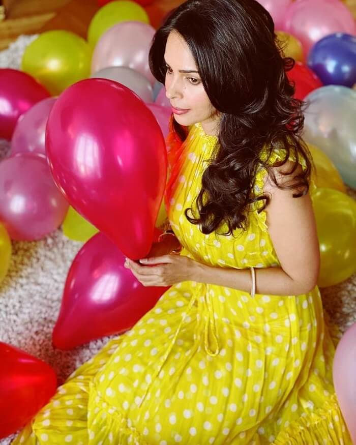 Mallika Sherawat Recent Photos In Yellow Dress