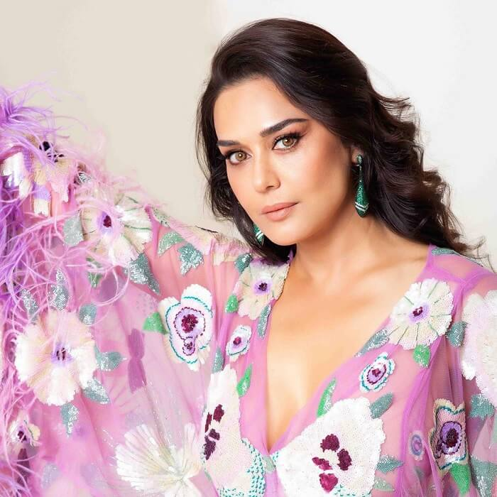Preity Zinta Latest Photos In Purple Dress