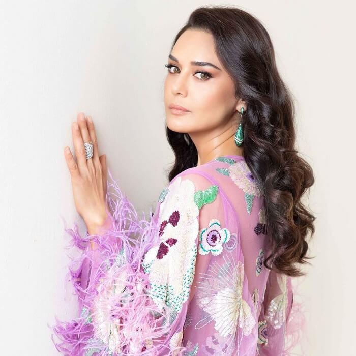 Preity Zinta In Purple Dress