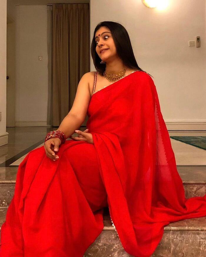 Kajol In Red Saree