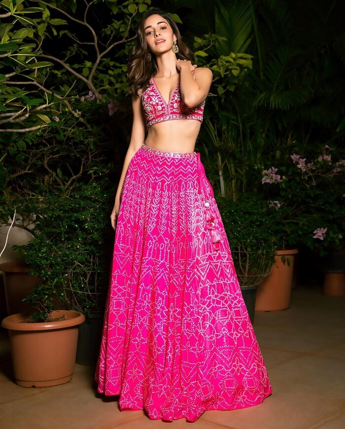 Ananya Panday In Pink Lehenga