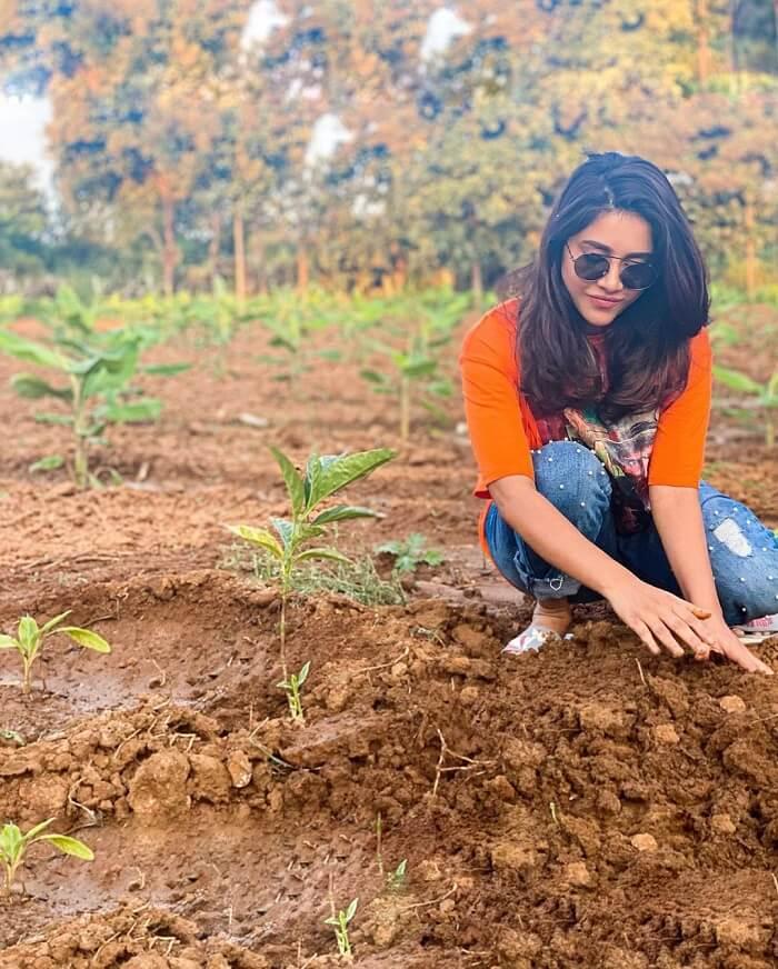 Nabha Natesh Accepts The Green India Challenge