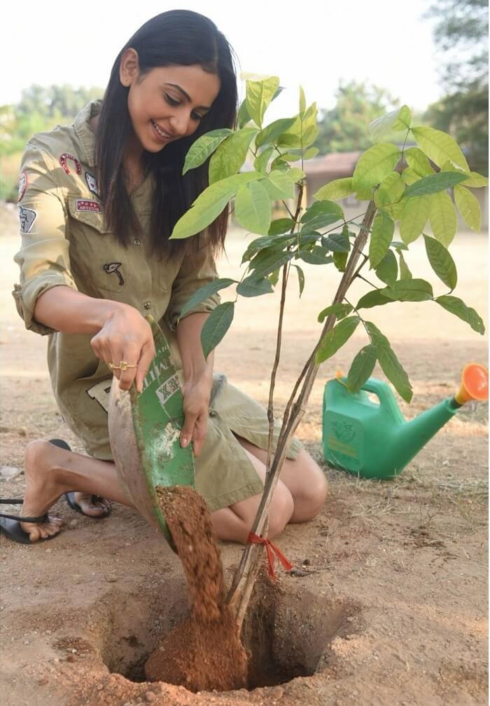 Rakul Preet Accepts The Green India Challenge