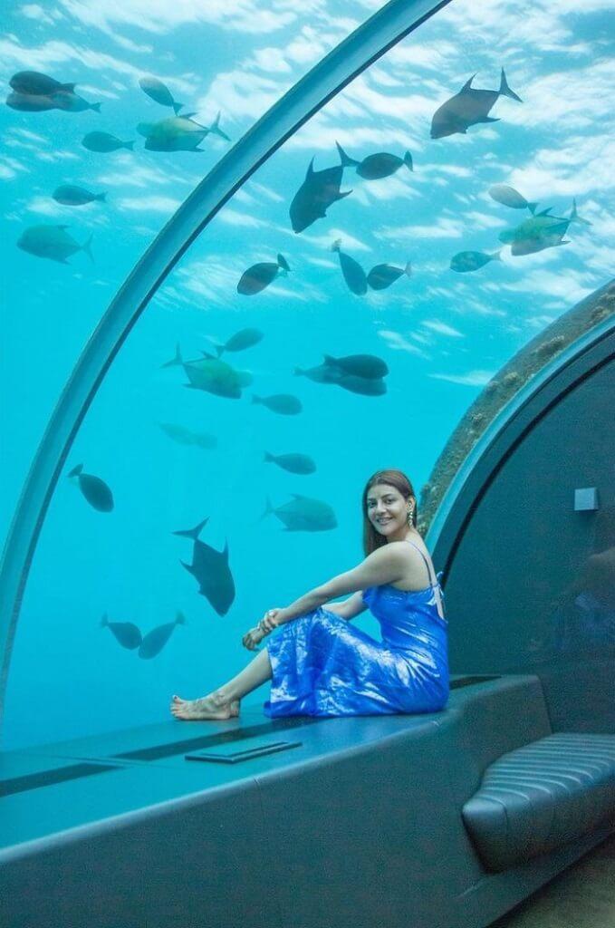 Kajal Agarwal In Under Water Resort