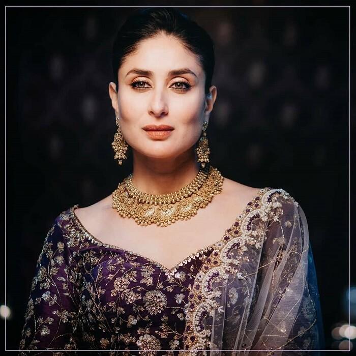Kareena Kapoor Ethnic Stills In Designer Dress
