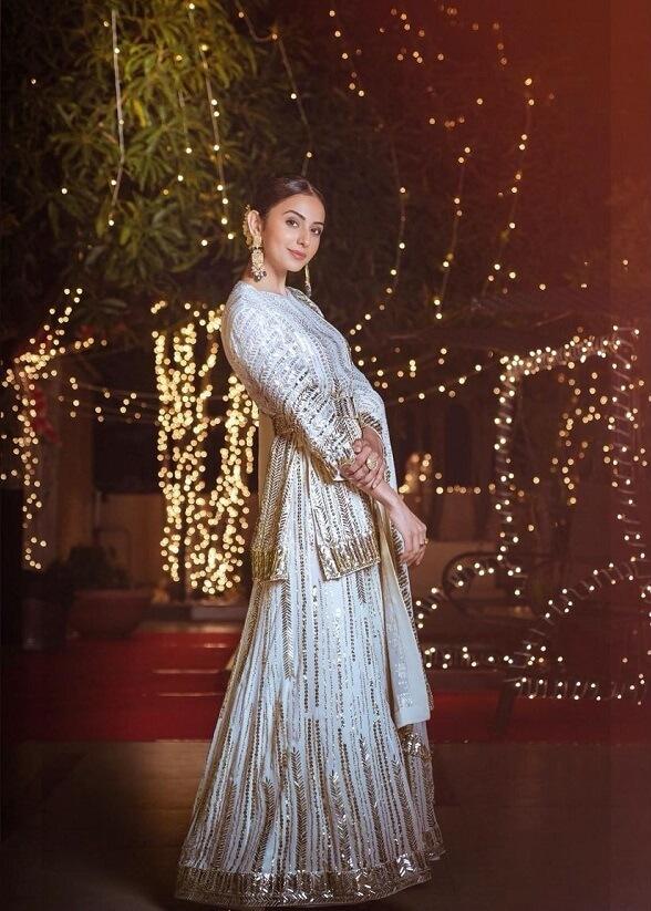 Rakul Preet Exclusive Images At Diwali Celebrations