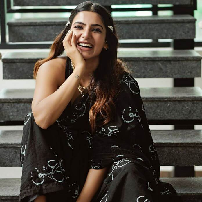 Samantha Akkineni In Black Saree