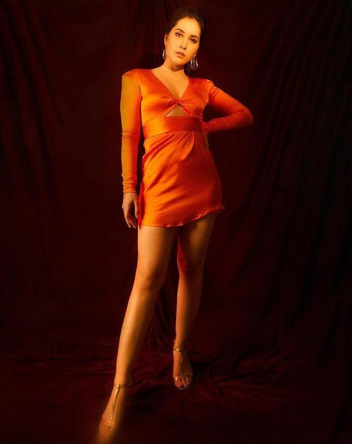 Rashi Khanna In Orange Skirt