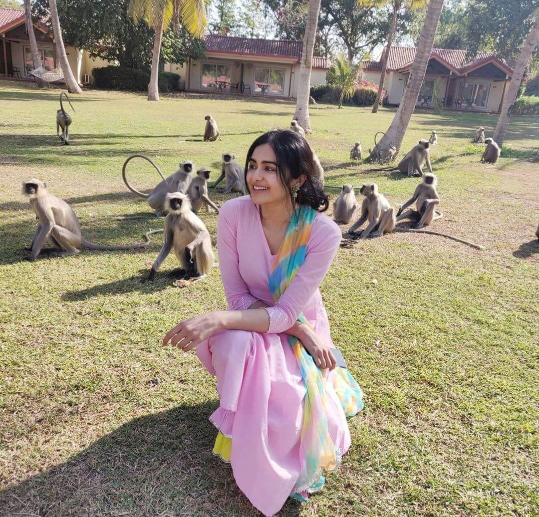 Adah Sharma New Pictures Shared On Net With Monkeys