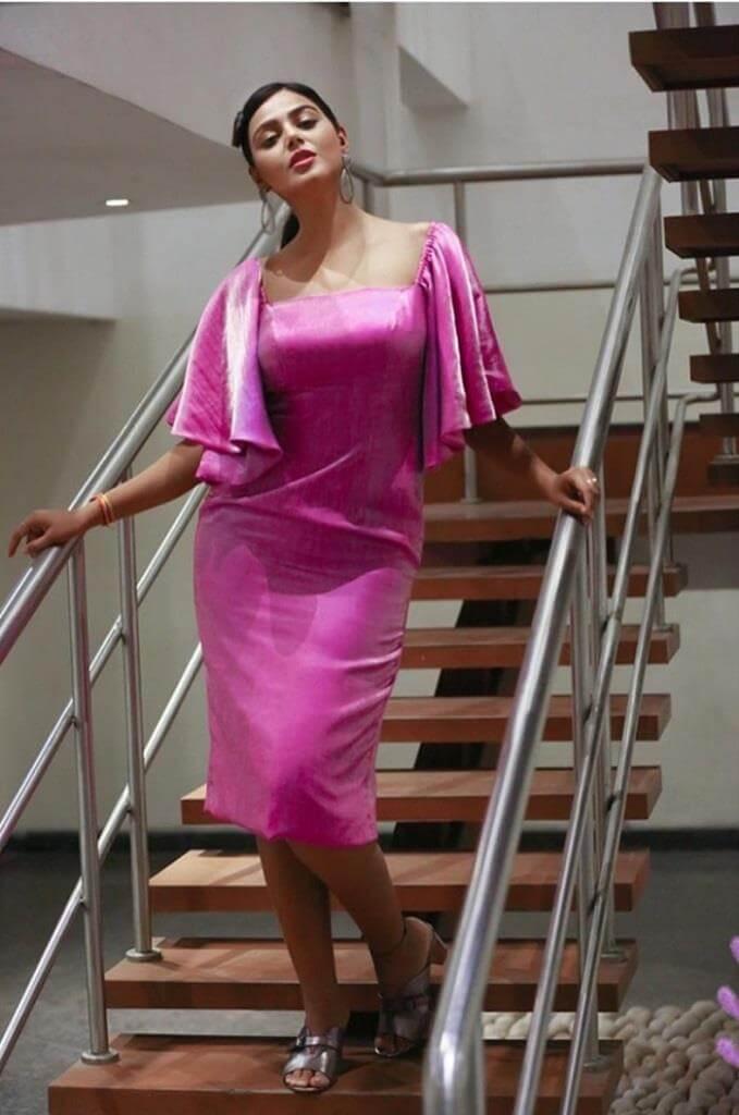 Monal Gajjar In Pink Dress