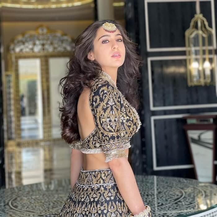 Sara Ali Khan In Ghagra Choli